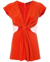Kitx - Red Web Knot Top - Lyst