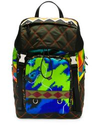 Lyst - Prada - Graphic Print Quilted Backpack - Men - Leather nylon ... b801a12e6ed02