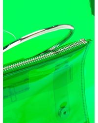 Toga - Green Ring Handle Vinyl Tote Bag - Lyst