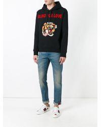 Gucci - Black Tiger Applique Hoodie for Men - Lyst