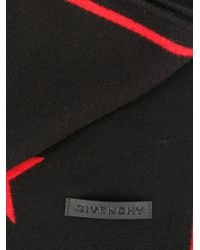 Givenchy - Black Star Knit Scarf - Lyst