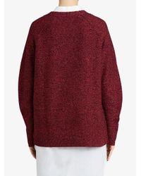 Burberry - Red Raglan Sweater - Lyst