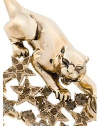 Roberto Cavalli - Metallic Panther And Stars Necklace - Lyst