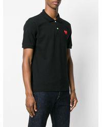 Play Comme des Garçons - Black Heart Motif Polo Shirt for Men - Lyst