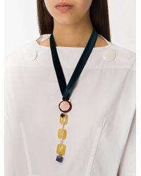 Marni - Blue Geometric Pendant Necklace - Lyst