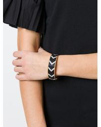 Givenchy - Black Chevron Pattern Bracelet - Lyst