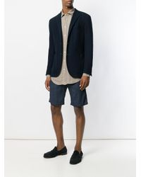 Massimo Alba Green Round Collar Canary Shirt for men