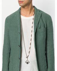 Tagliatore - White Beaded Pendant Necklace for Men - Lyst