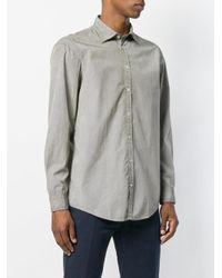 Massimo Alba - Green Micro Print Genova Shirt for Men - Lyst