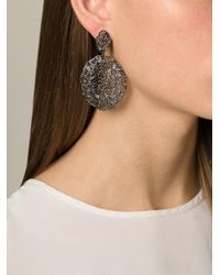 Aurelie Bidermann | Black 'vintage Lace' Earrings | Lyst