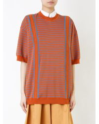 Marni - Orange Striped Knitted Sweater - Lyst