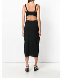 Isabel Benenato - Black Open Back Dress - Lyst