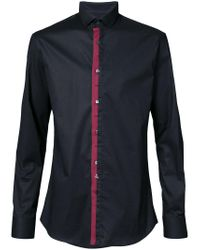 Philipp Plein - Black Contrasting Button Shirt for Men - Lyst