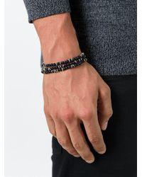 M. Cohen - Black Beaded Bracelet for Men - Lyst