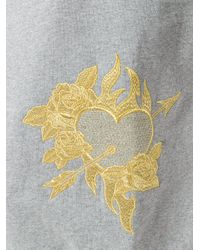 Each x Other - Gray Floral Embroidered Sweatshirt - Lyst