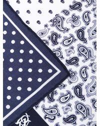 Alexander McQueen - Blue Printed Pocket Square - Lyst