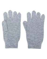N.Peal Cashmere - Gray Gants En Cachemire for Men - Lyst