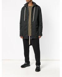 Rick Owens Drkshdw - Black Drawstring Hooded Jacket for Men - Lyst