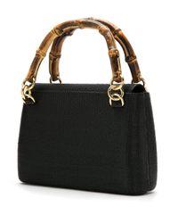 Serpui - Black Straw Shoulder Bag - Lyst