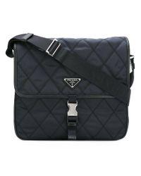 03c9b19bc0e6 Prada - Quilted Messenger Bag - Men - Nylon - One Size in Blue for ...