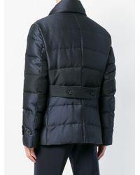 Emporio Armani - Blue Padded Biker Jacket for Men - Lyst