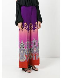Etro - Multicolor Marrakesh Print Wide-leg Pants - Lyst