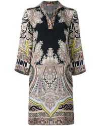 Etro Multicolor Abstract Print Shift Dress
