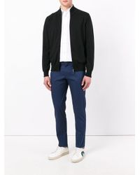 Canali - Black Zip Up Cardigan for Men - Lyst
