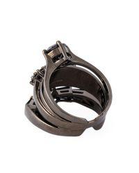 Iosselliani   'black On Black Memento' Ring   Lyst