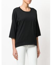 Snobby Sheep - Black Cropped Sleeve Sweater - Lyst