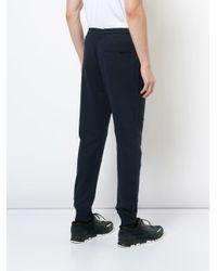 Belstaff - Blue Elasticated Waist Track Pants for Men - Lyst