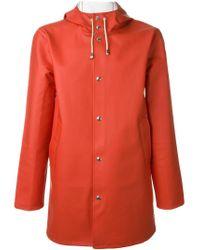 Stutterheim   Orange Hooded Raincoat for Men   Lyst