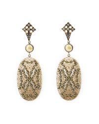 Loree Rodkin - Metallic Lace Maltese Cross Drop Diamond Earrings - Lyst