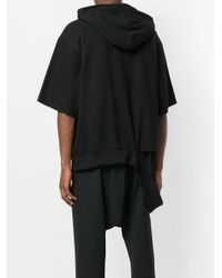 Moohong - Black Deconstructed Hem Hoody for Men - Lyst