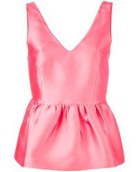 P.A.R.O.S.H. | Pink Peplum Tank | Lyst