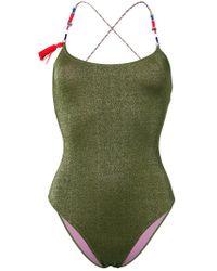Anjuna - Green Elba Contrast Strap Swimsuit - Lyst