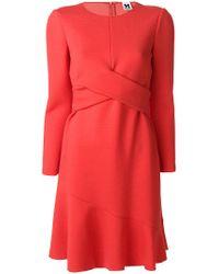 M Missoni | Crossed Panel Flared Dress | Lyst