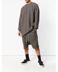 Rick Owens Drkshdw - Gray Longline Sweatshirt for Men - Lyst