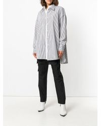 Juun.J - White Striped Fitted Shirt - Lyst