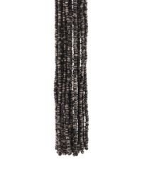Oscar de la Renta - Black Long Bead Tassel Earrings - Lyst