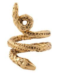 Aurelie Bidermann - Metallic 'asclepios' Snake Ring - Lyst