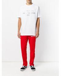 Palm Angels - White Logo Print T-shirt for Men - Lyst