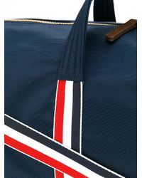 Thom Browne - Blue Unstructured Holdall In Nylon Tech And Suede for Men - Lyst