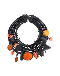 Monies - Black Unique Rosso Necklace - Lyst