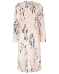 Shrimps | Pink Callum Faux Fur Coat | Lyst