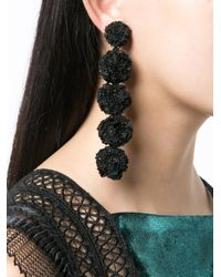 Sachin & Babi - Black Fleur Bouquet Earrings - Lyst