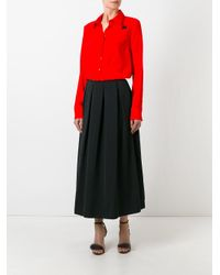 Rochas - Black Pleated Skirt - Lyst