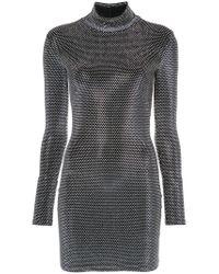 Faith Connexion - Black Studded High Neck Dress - Lyst