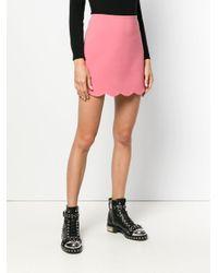Miu Miu - Pink Scalloped Mini Skirt - Lyst