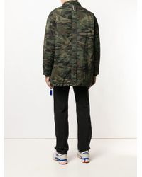 ADER ERROR - Green Camouflage Print Jacket for Men - Lyst